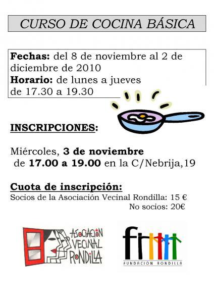 Curso de cocina b sica y fontaner a asociaci n vecinal for Curso de cocina basica pdf