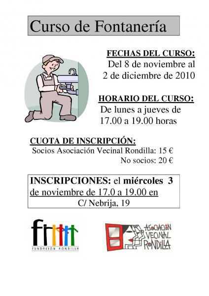 Curso De Cocina Basica Y Fontaneria Asociacion Vecinal Rondilla