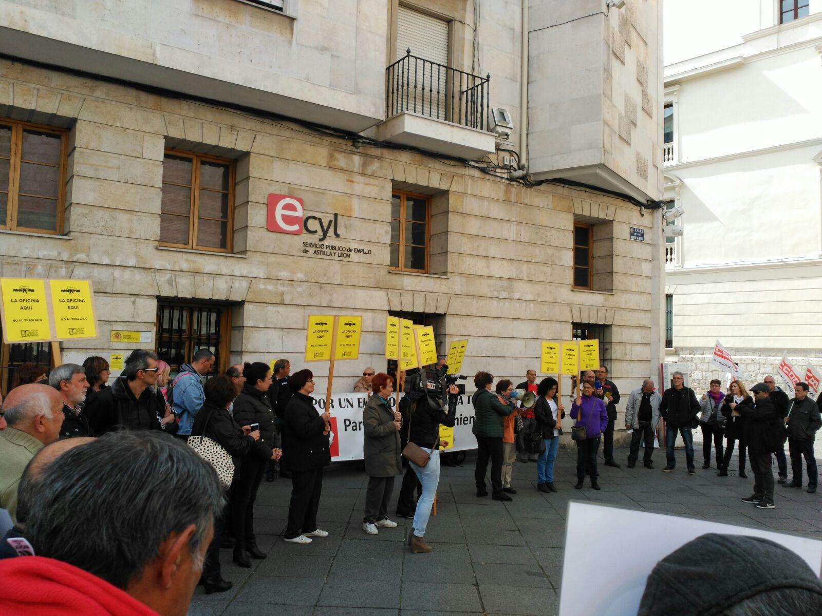 Manifiesto sobre el traslado de la oficina del ecyl for Oficinas de empleo valladolid